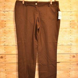 NWT Michael Kors Chocolate Chino Pants
